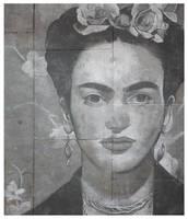 Frida Kahlo, pavement art