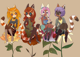 red panda party by yume