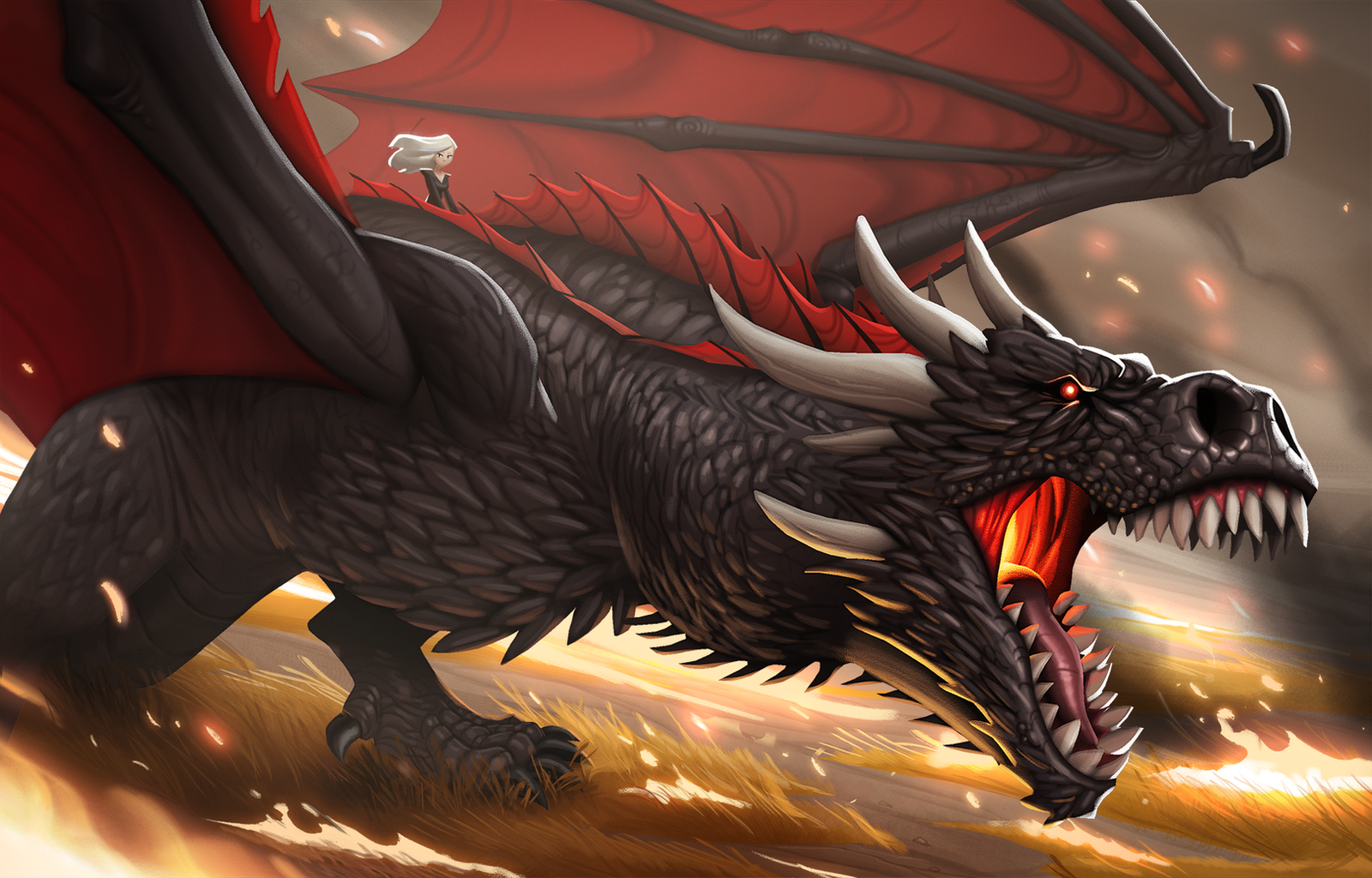 Fire and blood by Henkkab