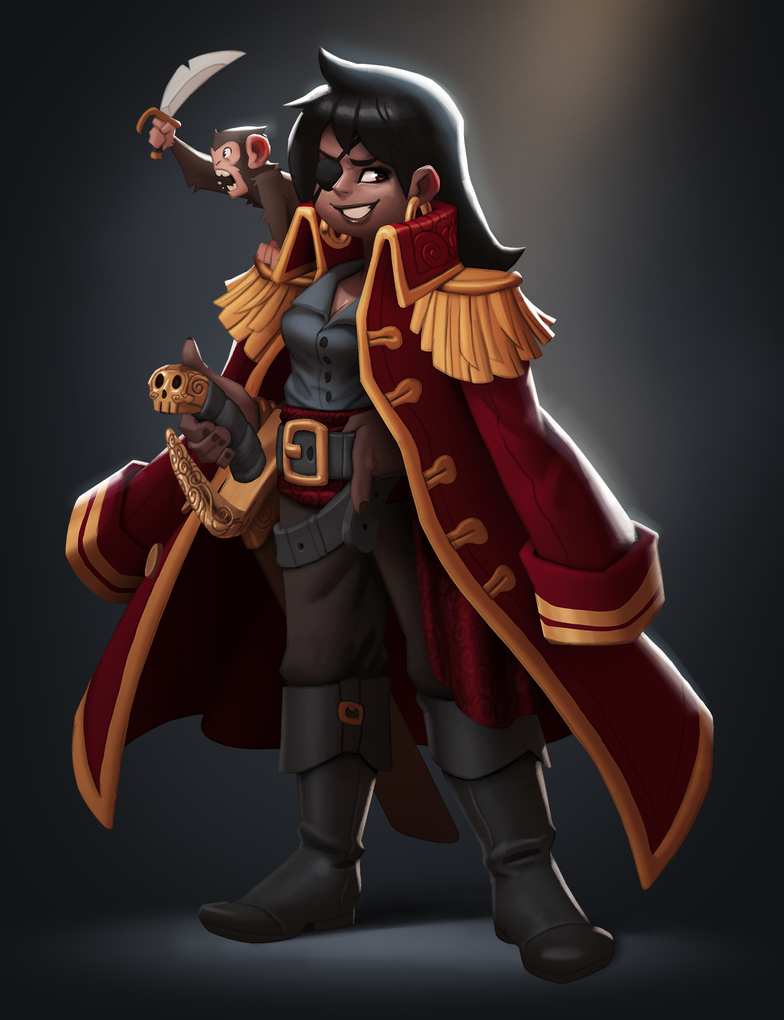 Pirate captain by Henkkab