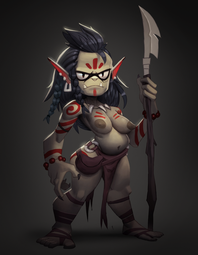Orc huntress by Henkkab