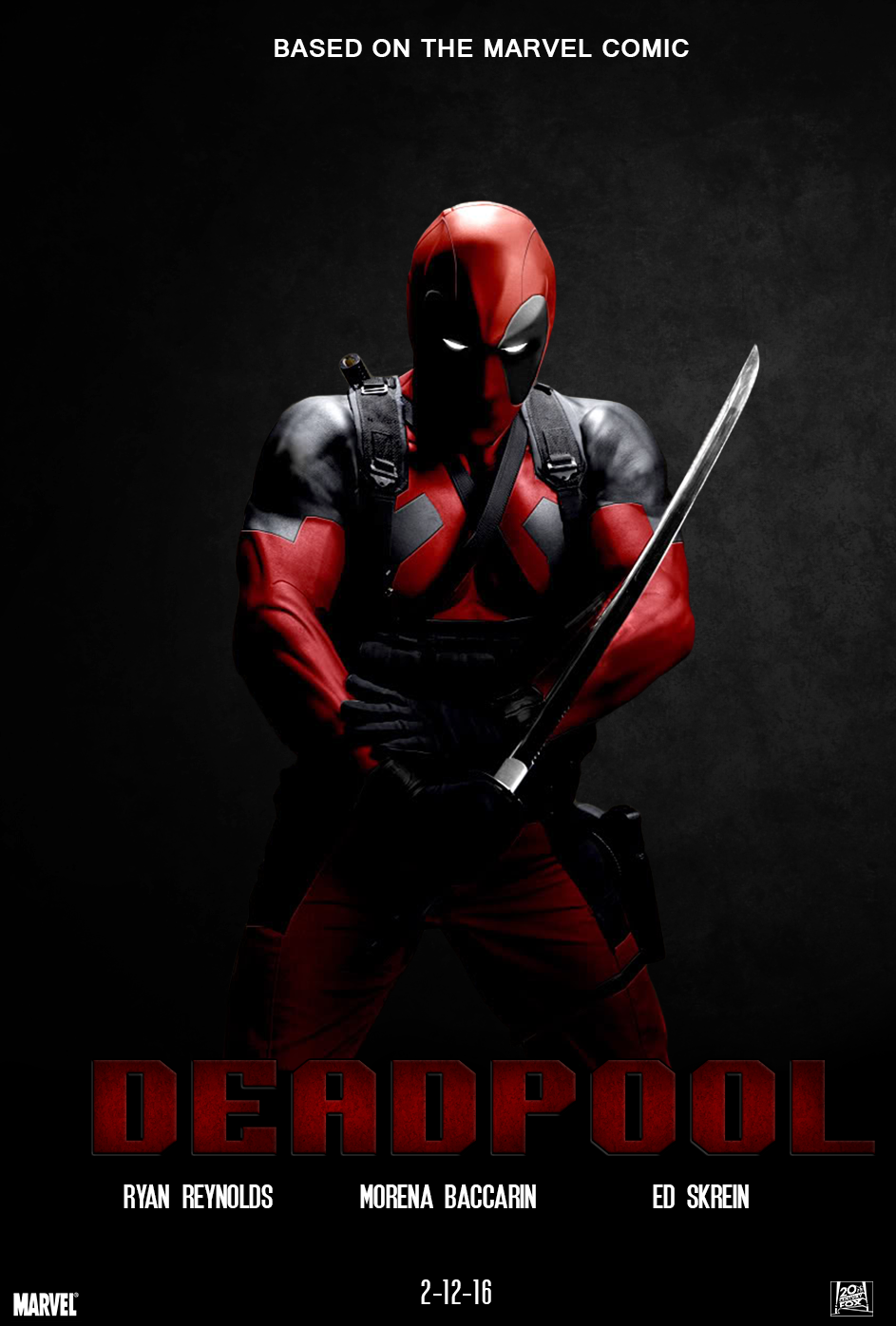 Deadpool movie poster by chronoxiong on DeviantArt