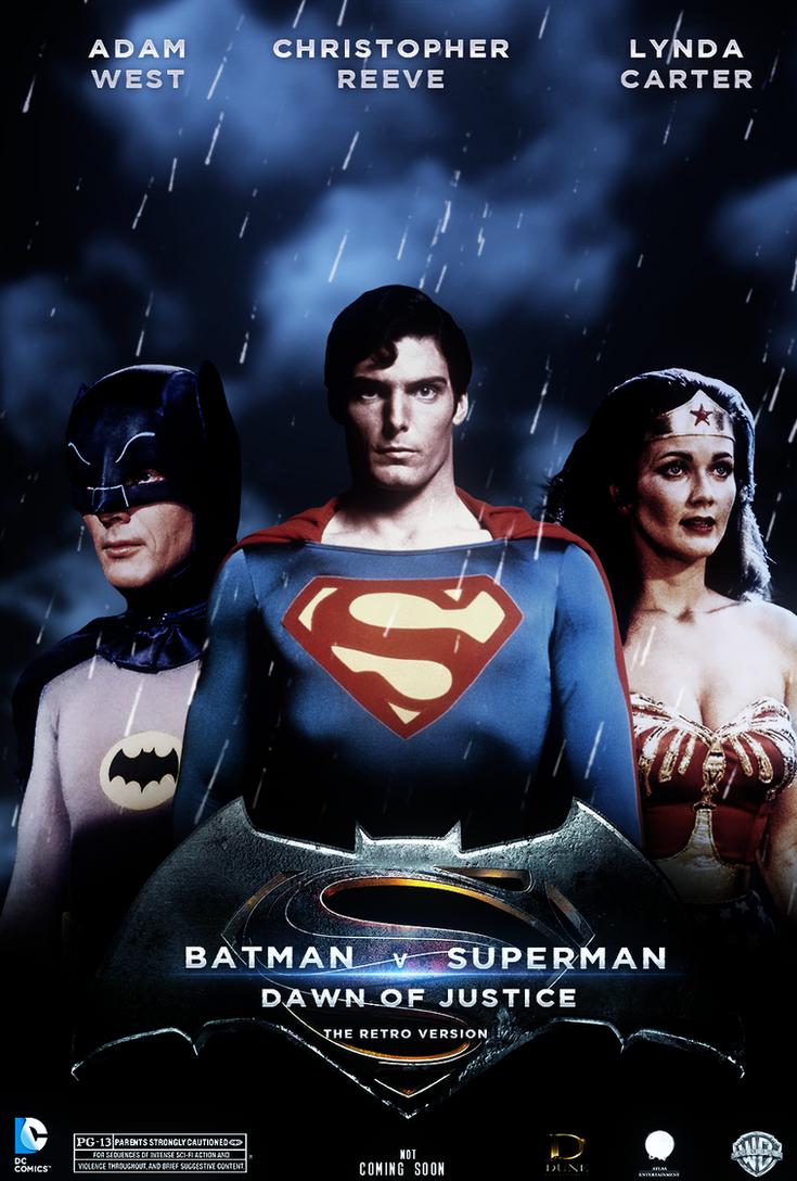 Batman vs Superman Dawn of Justice retro version by chronoxiong