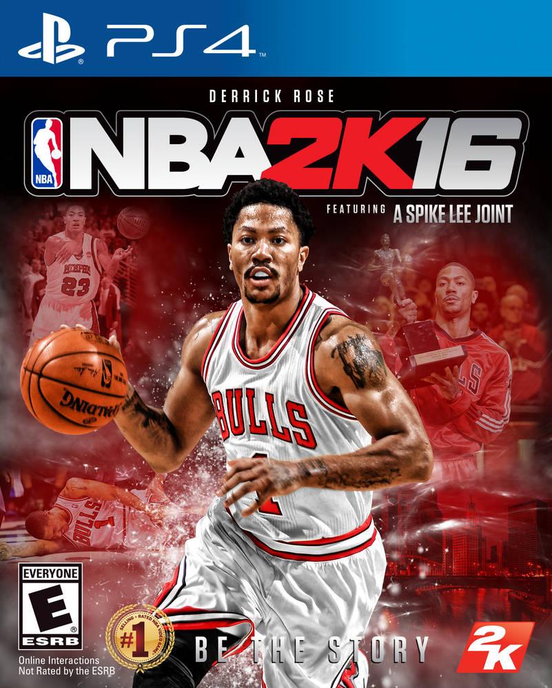 8d4a01ac9a0a NBA2K16PS4 Derrick Rose cover by chronoxiong on DeviantArt