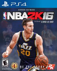 NBA2K16PS4 Gordon Hayward cover