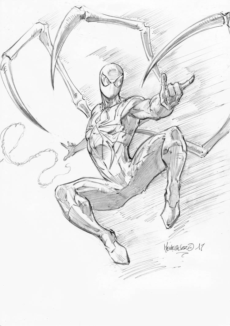 Iron Spider pencils by MenguzzOArt on DeviantArt