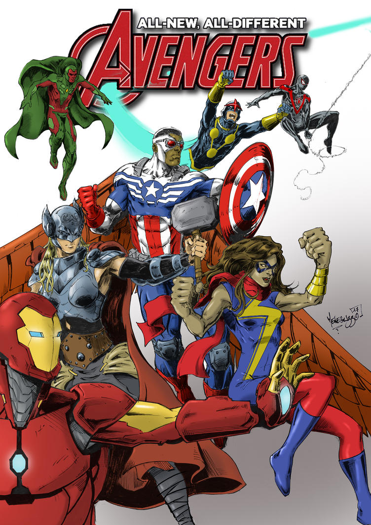 All-new all-defferent avengers Cover by MenguzzOArt