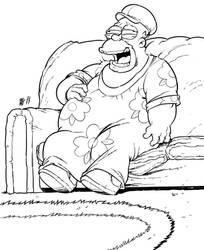 Homer Simpson (ciccione buontempone) by Urz-Rulez