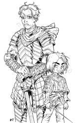 Brienne and Arya by Urz-Rulez