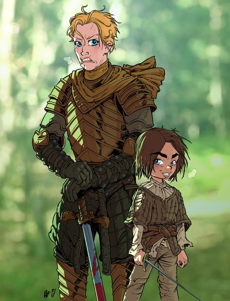 Brienne of Tarth and Arya Stark by Urz-Rulez