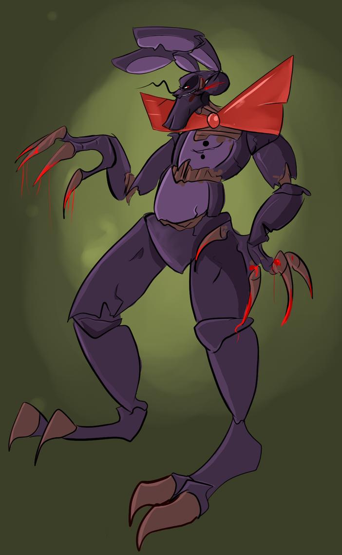 Nightmare bonnie by robogame on deviantart