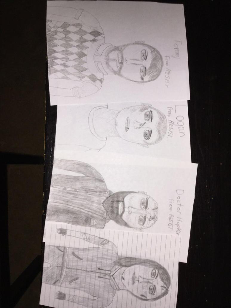 RESIST: Character Illustrations by crispylambda