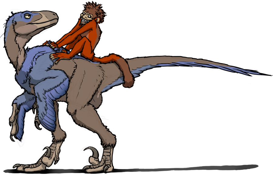 Simian Dino Jockey by eorhythm