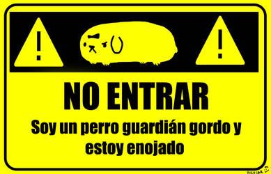 Humita's Warning Sign by la-bicolor