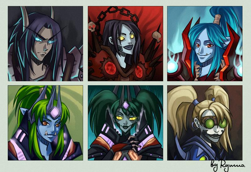 Wow avatar set 02 by ryumo on deviantart for Deviantart vrchat avatars