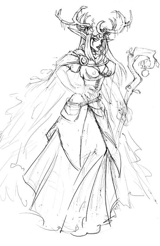 Gaia: WoW Druid sketch by ryumo