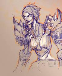 WoW: Vivianne sketch by ryumo