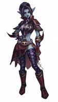 LII: Dark Elf Shillien Elder by ryumo