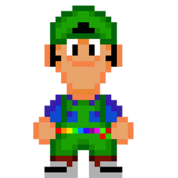 Super Mario Bros Movie Sprite Luigi by xxX-n-a-t-e-Xxx