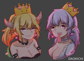 Bowsette And Terese by DaokichiKoala