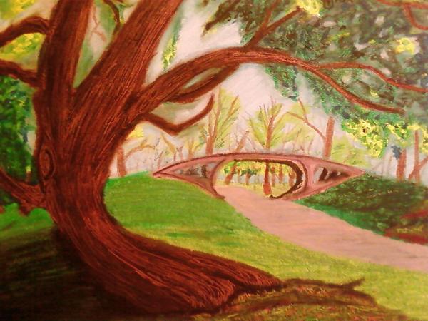 Central Park - Oil Pastel by donaldson1026