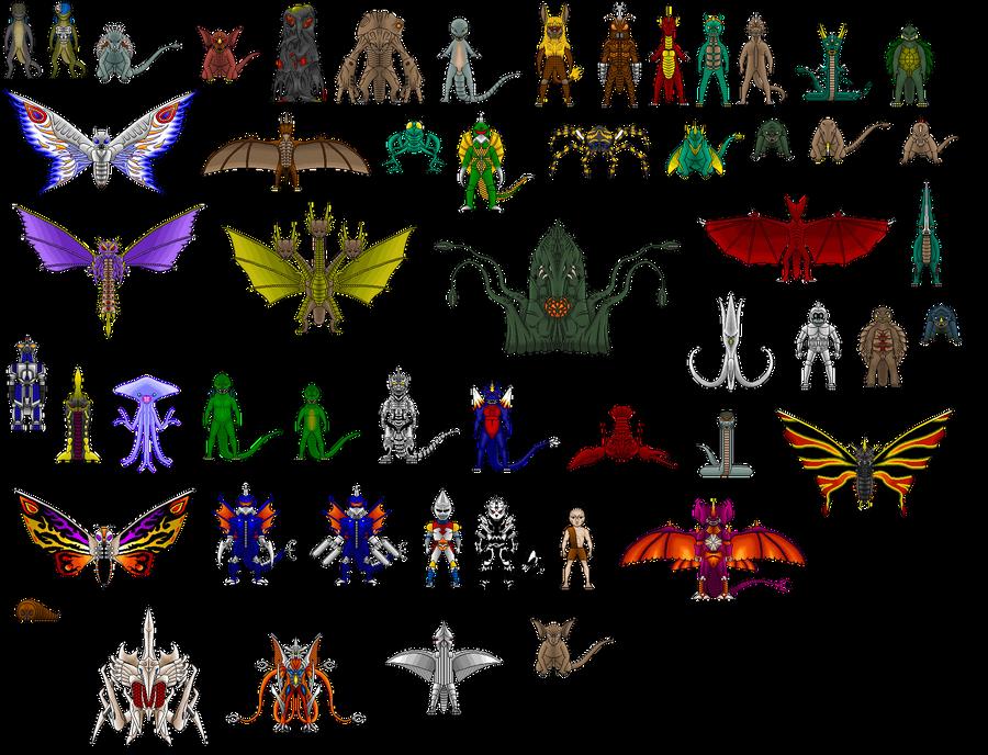 Godzilla List By Digikevin On Deviantart