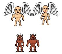 Angel vs. demon micro heroes by digikevin10