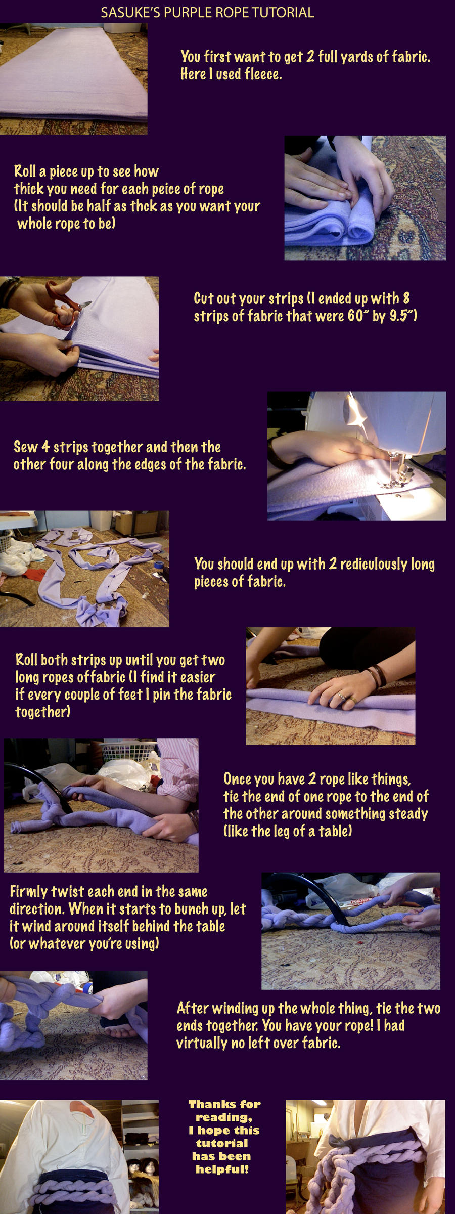 Sasuke Purple Rope Tutorial by Faxen