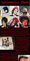 Eyebrow Cover Up Tutorial for Cosplay by Faxen