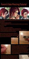 Cosplay Fake Eyebrow Piercing Tutorial by Faxen