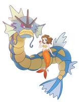 Mermaid Pokemon Trainer Gyarados by courtneymermaid