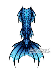 Blue Dragon Mermaid Tail by courtneymermaid