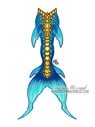Guardian Mermaid Tail by courtneymermaid