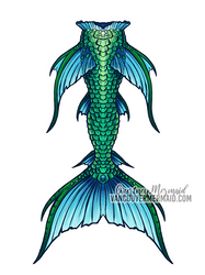 Sea Serpent Mermaid Tail by courtneymermaid