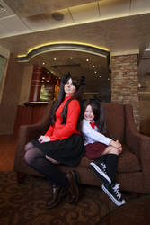 Fate/Stay Night - Rin Tohsaka - Past and Present by foxbent