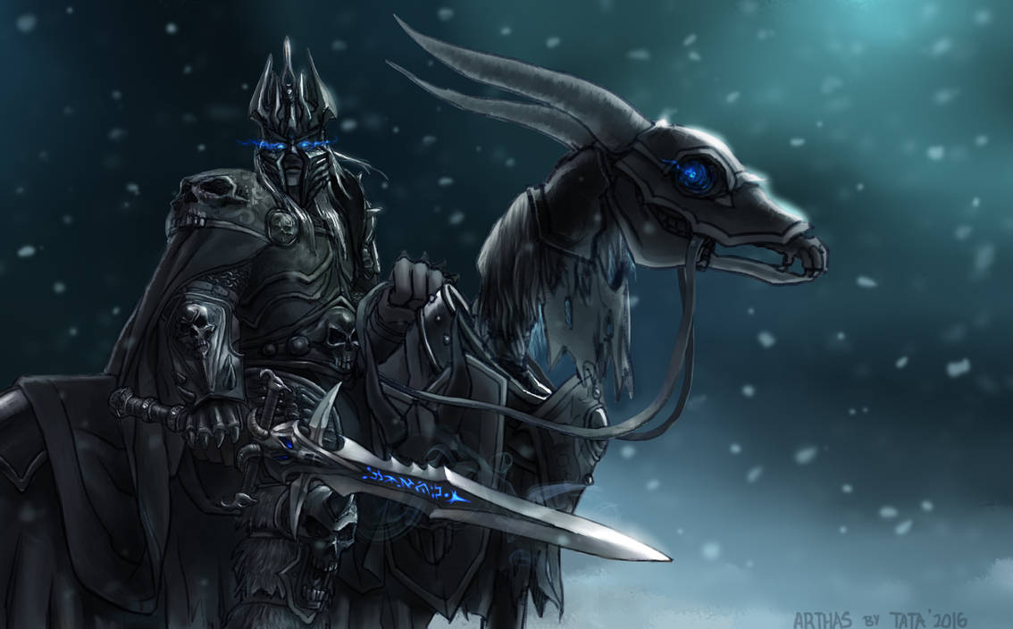 Arthas Menethil Lich King Fan Art By Tataxi On Deviantart
