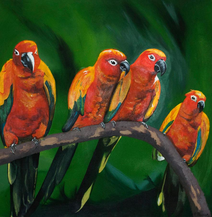 4 Birds by Ryannethelion