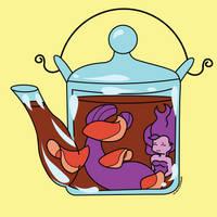 Mermaid tea by RetroGirlsStuff