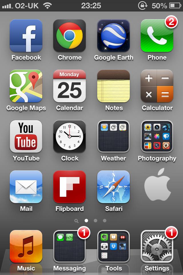 Apple Logo iPhone 4S Wallpaper Example