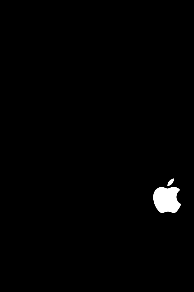 apple logo white on black. apple logo iphone 4s wallpaper by simplewallpapers white on black
