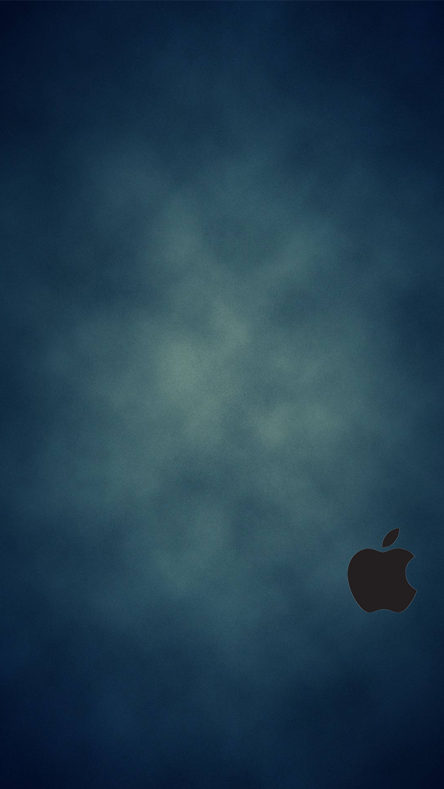 iphone 5 blue wallpaper black logo by simplewallpapers on