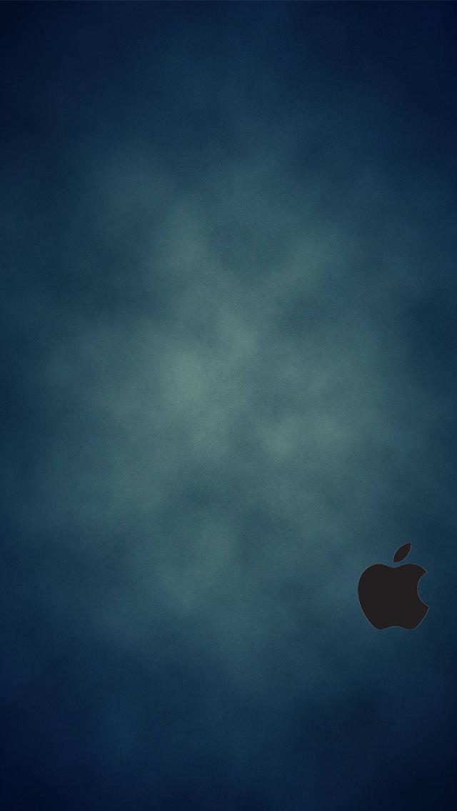 IPhone 5 Blue Wallpaper Black Logo By SimpleWallpapers