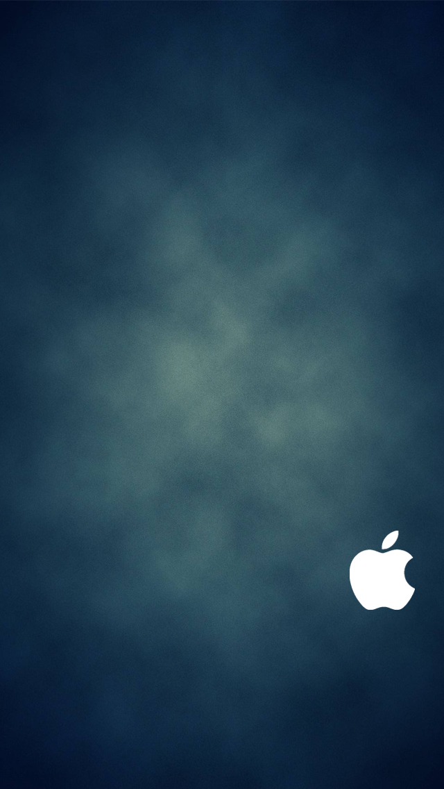 iPhone 5 Blue Wallpaper White Logo by SimpleWallpapers on ...