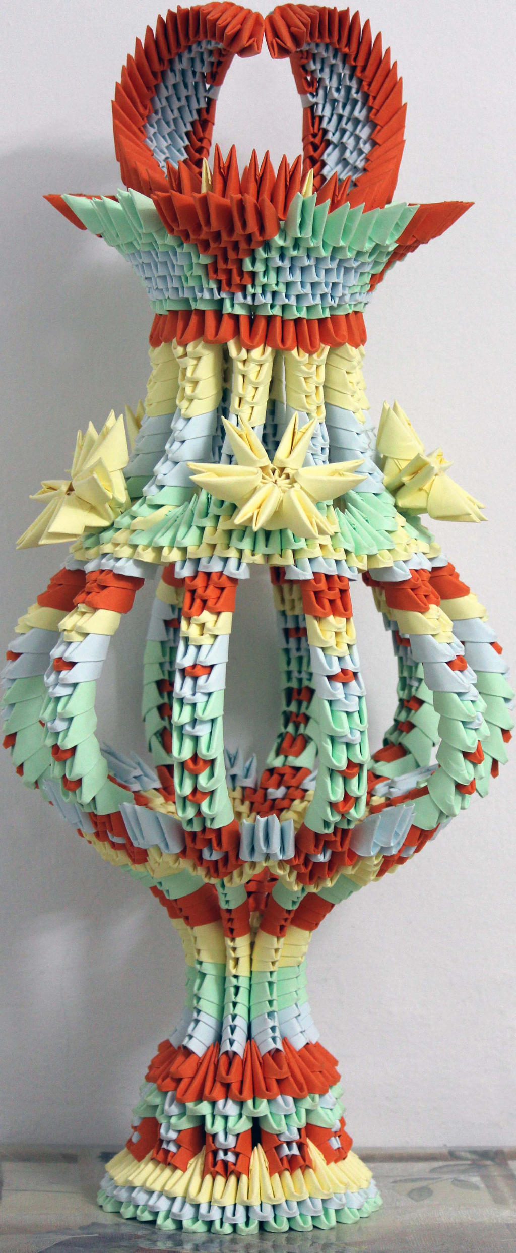Origami vase by Catstrosity on DeviantArt - photo#19