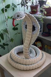 3D Origami Cobra pic 1 by Catstrosity