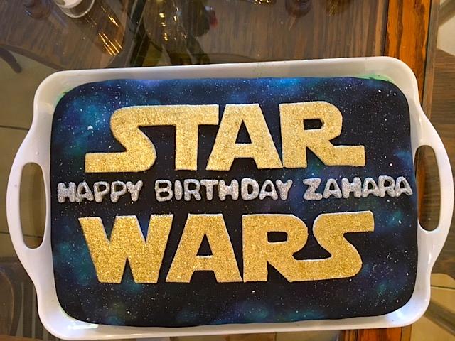 Star Wars Glitter Cake by the-hermit-crab