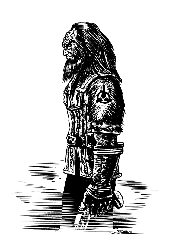 Klingon Inktober19 by Sgrum