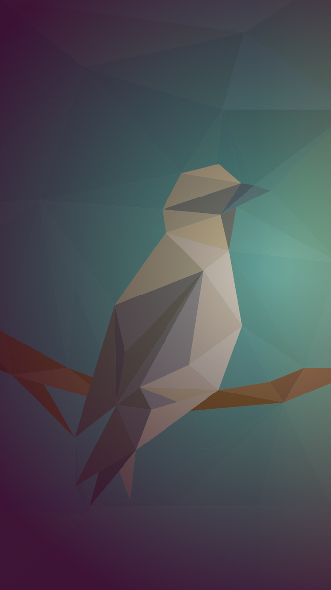 Geometric bird by SandraMichon-SendArt
