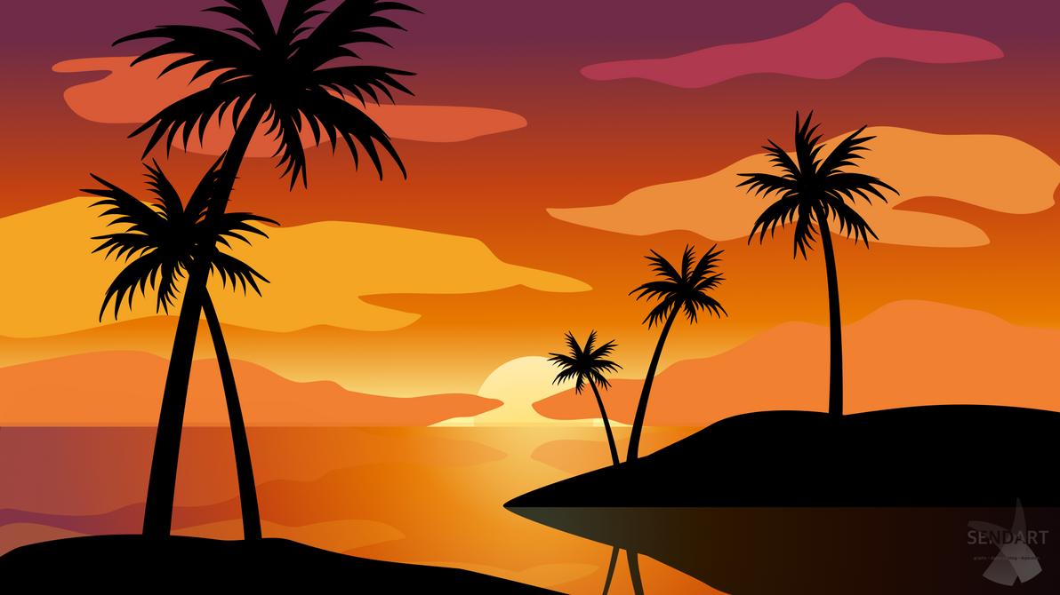 Summer beach landscape by SandraMichon-SendArt