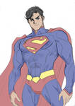 Superman Sketch By Lucianovecchio-d4apur9